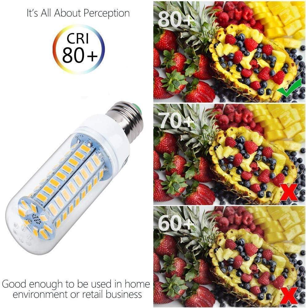 4 Pack Corn lamp Bulb Pure White 5.5W E26 72LEDs