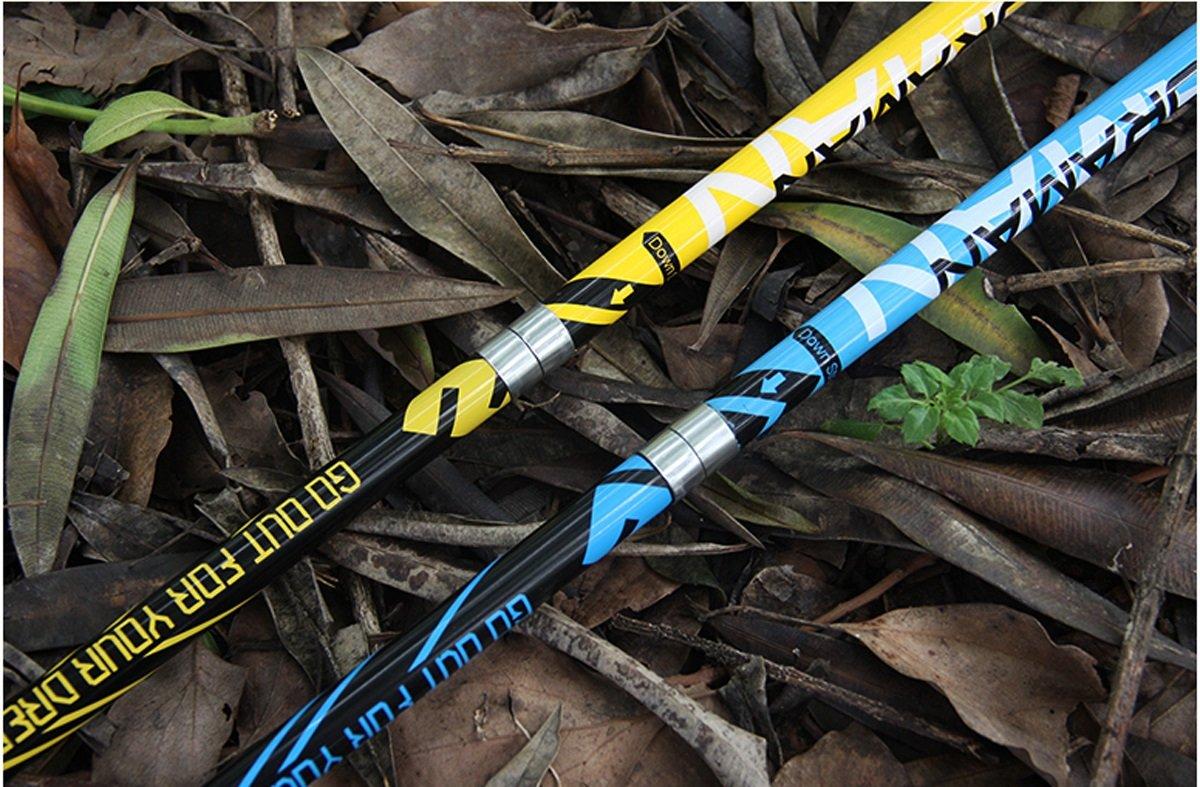 LHFJ Zusammenklappbare Wanderstöcke Ultralight Carbon Fiber Alpenstocks Wandern Alpenstocks Fiber Anti-Schock Klettern Stick mit Quick & FlipLock für Outdoor-Wandern, Backpacking b849d5