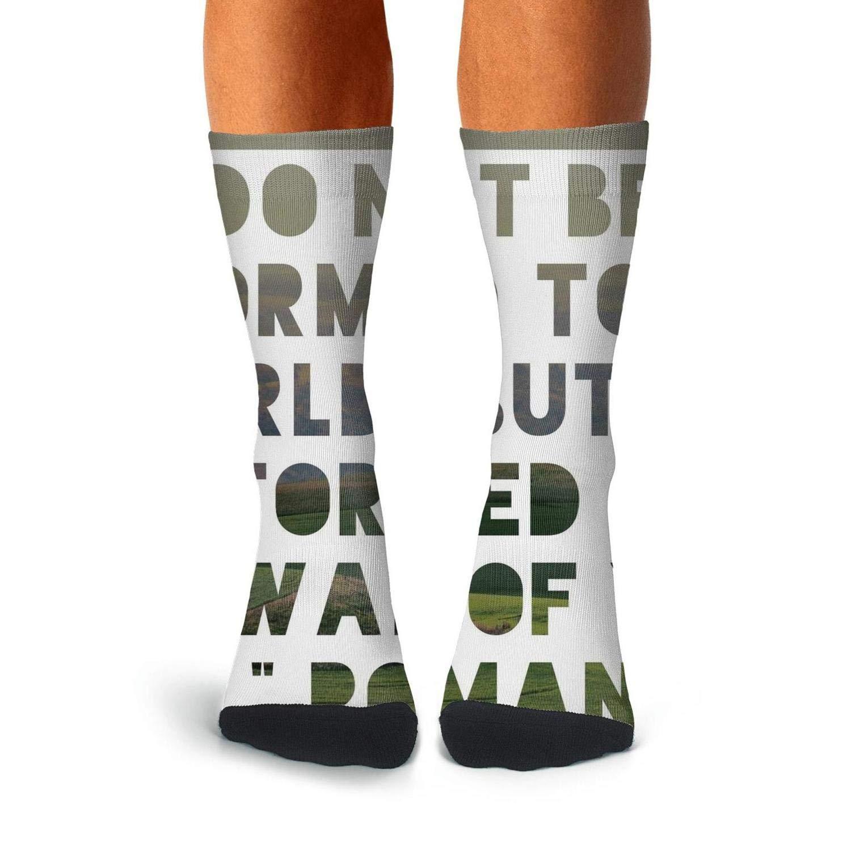 KCOSSH Bible Quotes Novelty Calf Socks Casual Crew Sock For Men Knee High Long Stockings