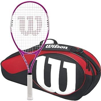 94209ecfac3 Wilson Triumph pre-strung Equipada con una bolsa de tenis de Wilson raqueta  de tenis