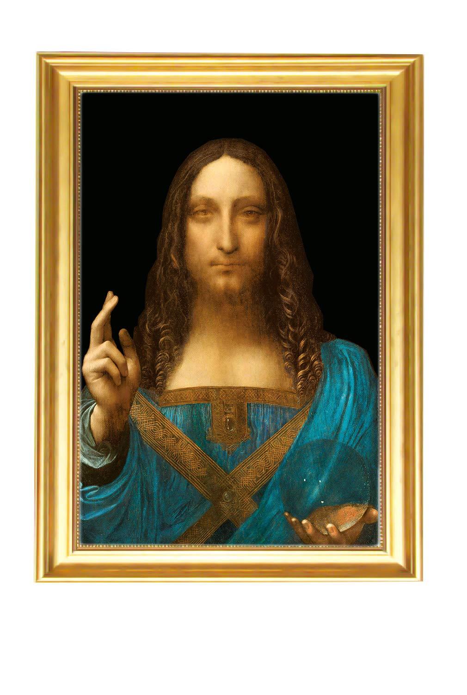 Eliteart-Salvator Mundi by Leonardo Da Vinci Oil Painting Reproduction Giclee Wall Art Canvas Prints