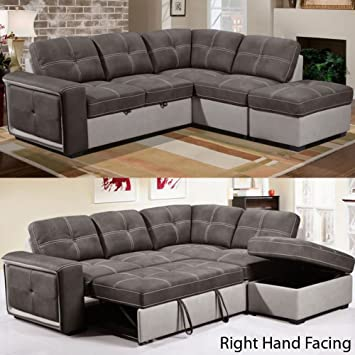 Sensational Quinto Corner Sofa With Pull Out Sofa Bed Grey Fabric Grey Beatyapartments Chair Design Images Beatyapartmentscom