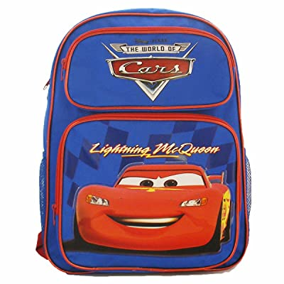 """Disney Car Backpack 16"""" Blue: Office Products"""
