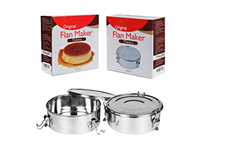 Perfecto para flan tarta eléctrica molde Flanera Inoxidable Acero recetas incluye un folleto por Dolce Cucina