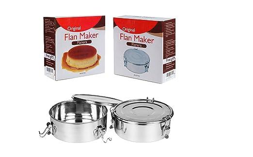 Perfecto para flan tarta eléctrica molde Flanera Inoxidable ...