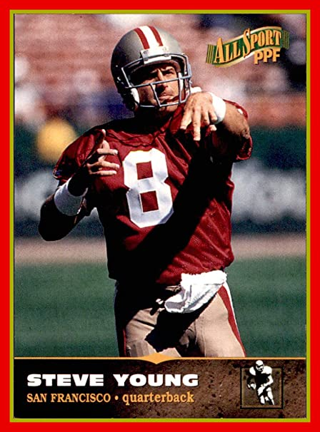 db5d034e7 1996-97 Score Board All Sport PPF  32 Steve Young SAN FRANCISCO 49ers BYU