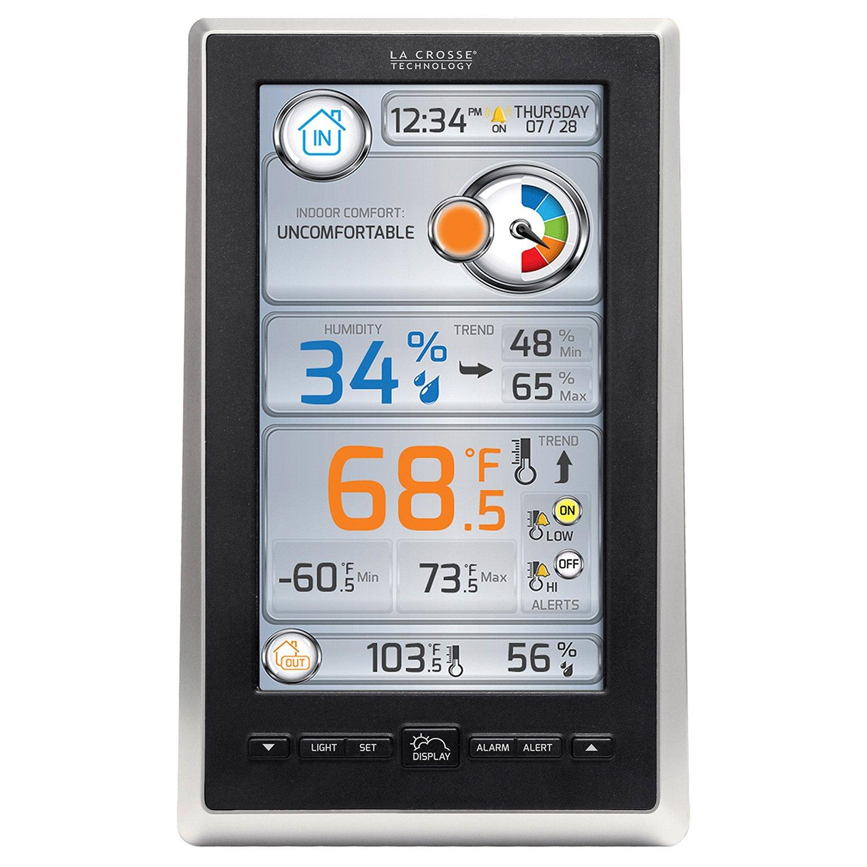 Amazon.com: La Crosse Technology S88785 Liquid Crystal Color Forecast  Station: Home U0026 Kitchen