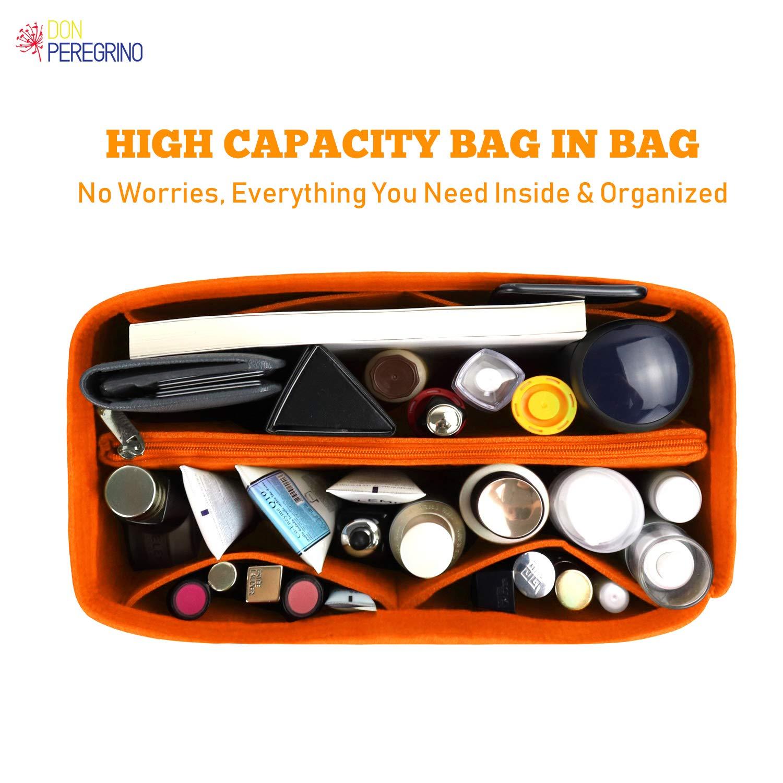 Bag in Bag Ideal para LV Speedy Neverful y M/ás DONPEREGRINO Fieltro Premium Organizador de Bolsos de Mujer