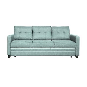 Furniture 247 3 Seater Sofa Bed 91 X 203 X 88cm Green Amazon Co