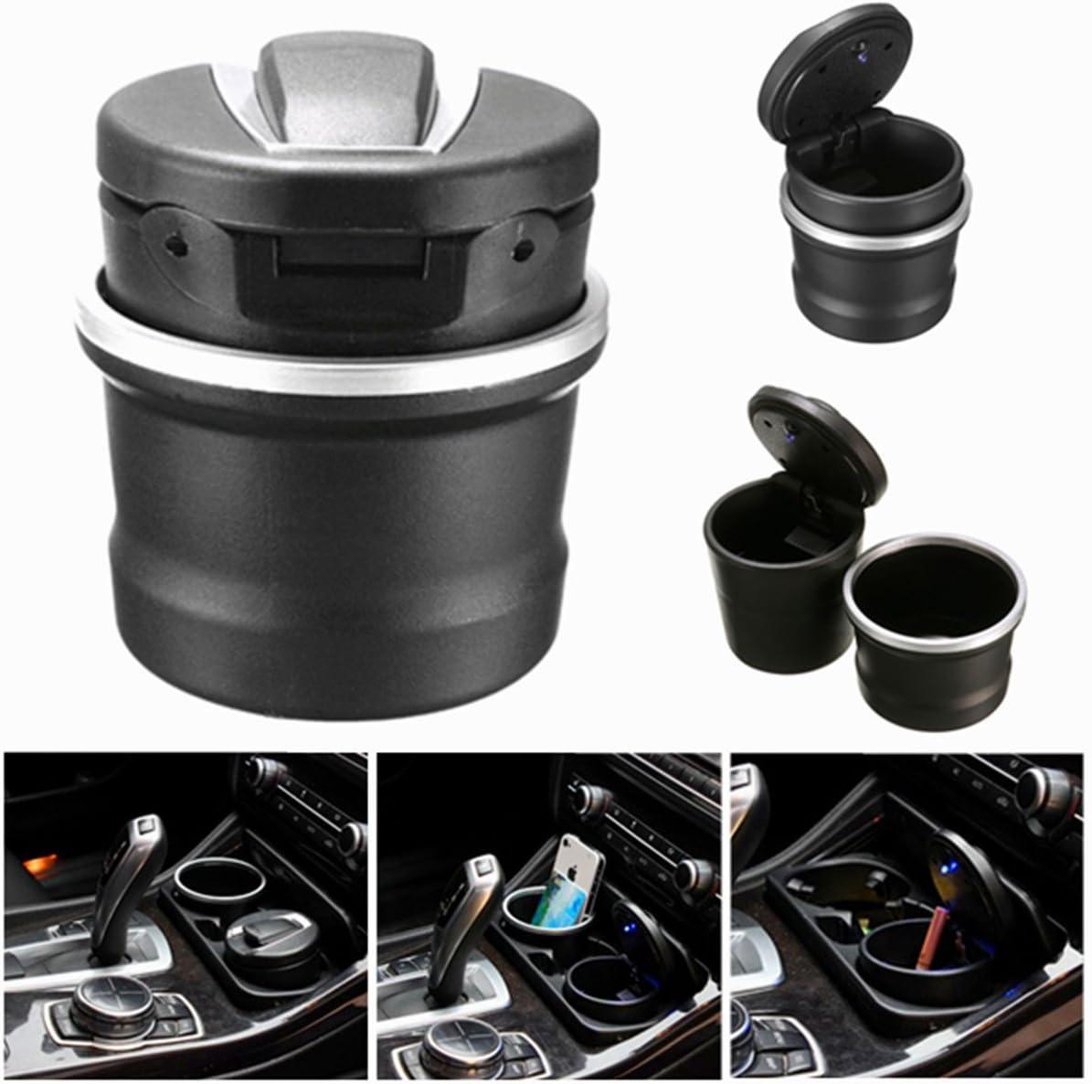 Alamor Portable Car Aschenbecher Lagerung Box Led F/ür Bmw Von 1 Serie 3 Serie 5 Serie 7Er X 1 X 3 X 5 X 6