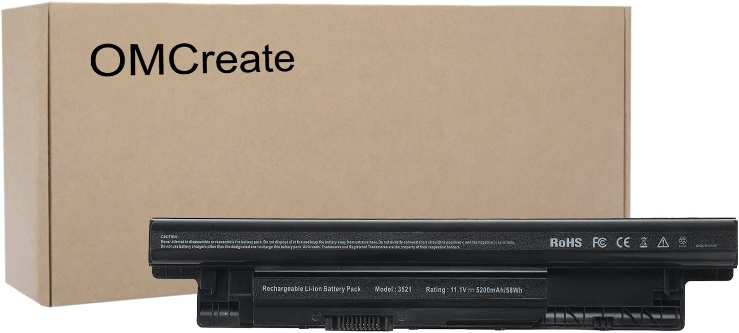 OMCreate Battery Compatible with XCMRD for Dell Inspiron 3521 3421 3537 3721 5521 5537 5737, Latitude 3440 3540 E3540; fits P/N MR90Y YGMTN 9K1VP 0MF69 N121Y