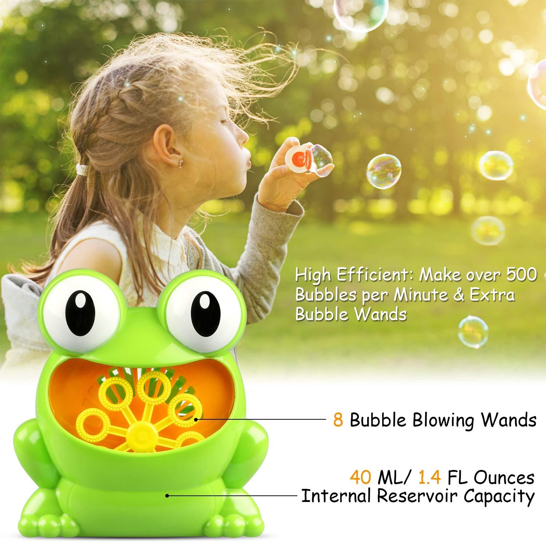 TedGem Máquina de Burbujas, Maquina Pompas de Jabon, Portátil Máquina de Burbujas Haga más de 500 Burbujas por Minuto, Adecuado para niños Fiesta de ...
