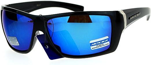 Arctic Blue Sunglasses Anti-Glare Bluetech Mirror Lens Mens Sports Shades