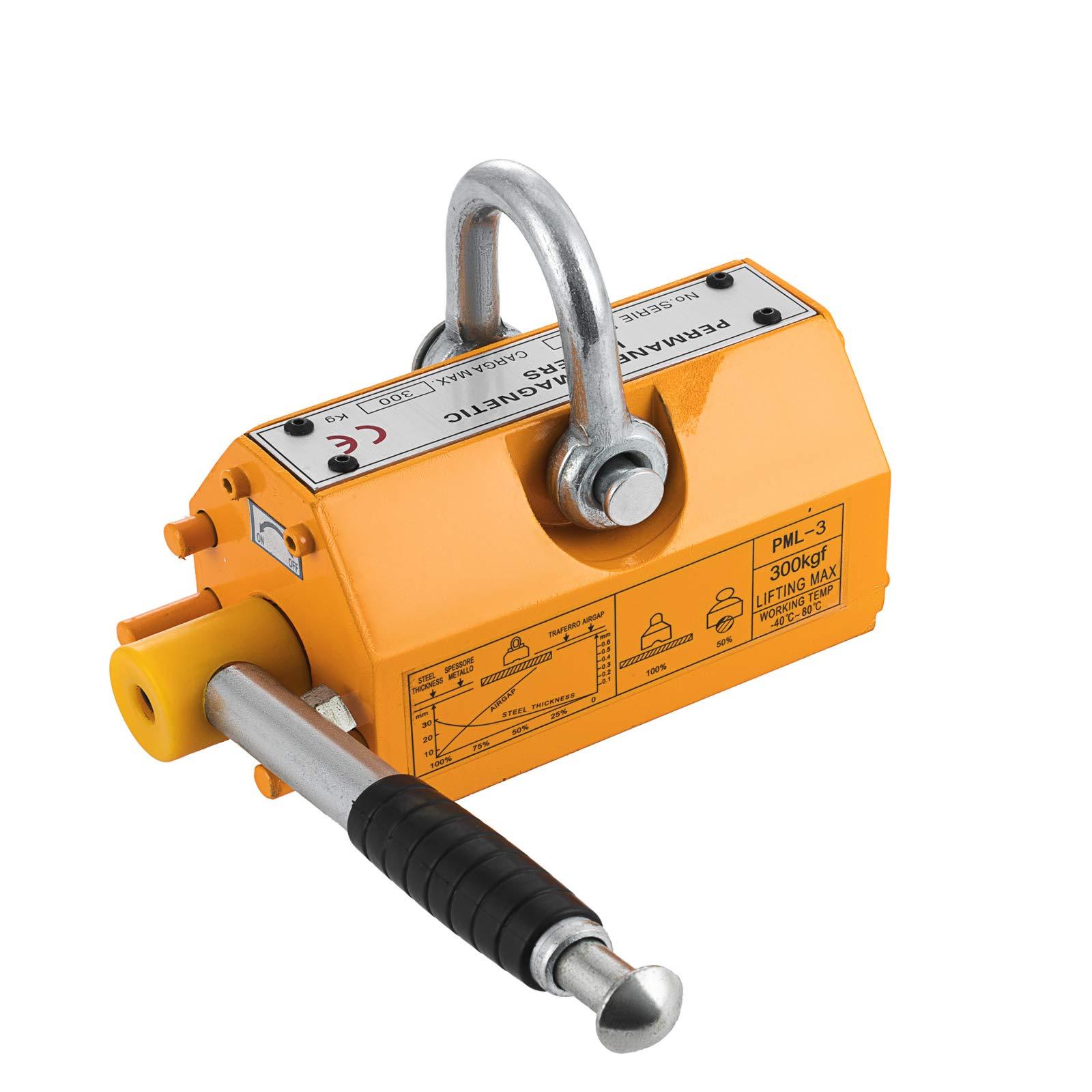 SHZOND Magnetic Lifter 660LBS Crane Hoist Lifting Magnet Neodymium Iron 300KG Metal Lifting Magnet (660LB)