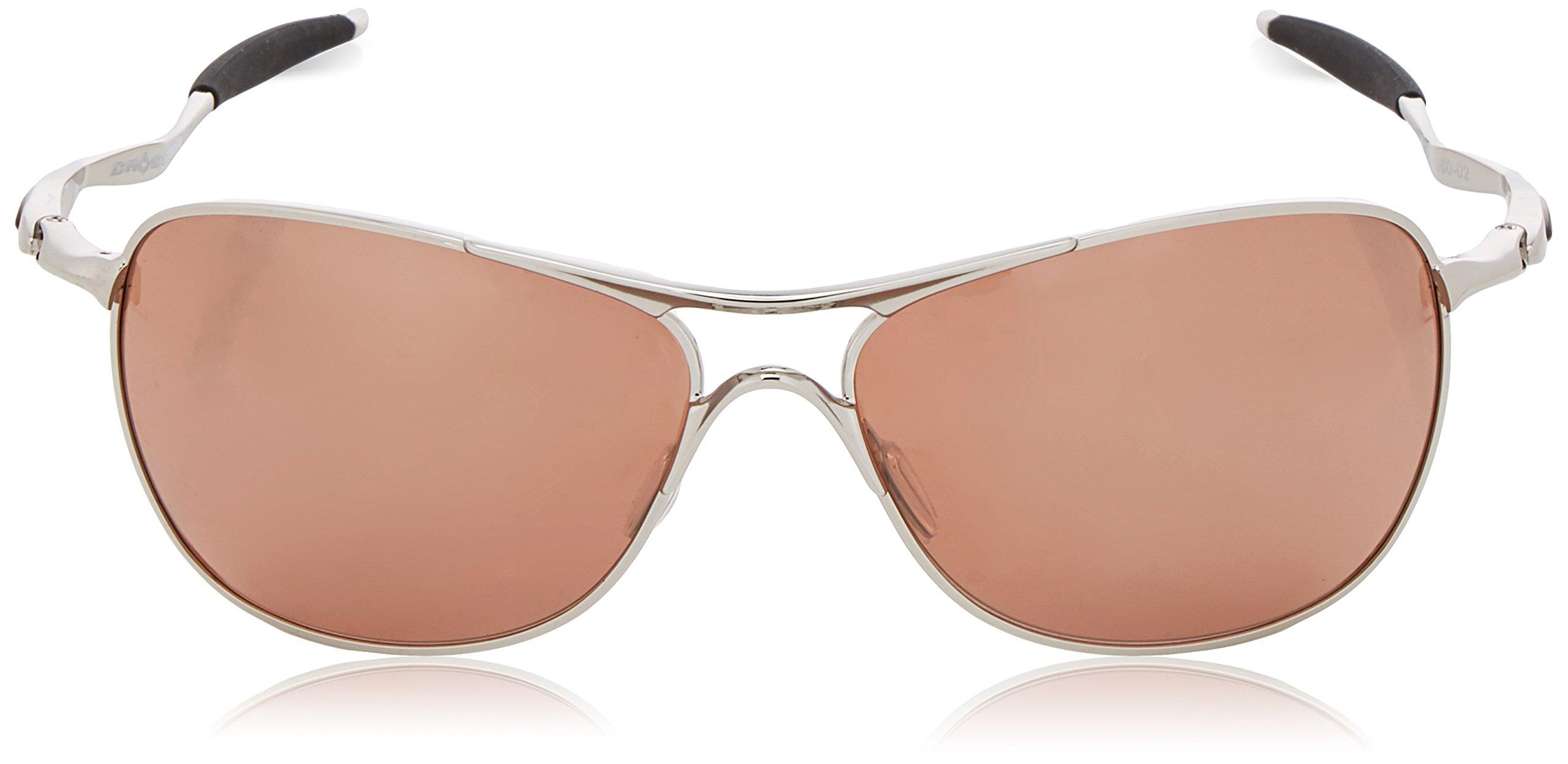 Oakley Mens Crosshair OO4060-02 Iridium Non-Polarized Oval Sunglasses,Chrome Frame/VR28 Black Iridium Lens,one size by Oakley (Image #2)