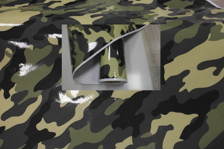 K/önighaus Jungle Camo II 200 x 152 cm blasenfrei mit Anleitung Camouflage Autofolie