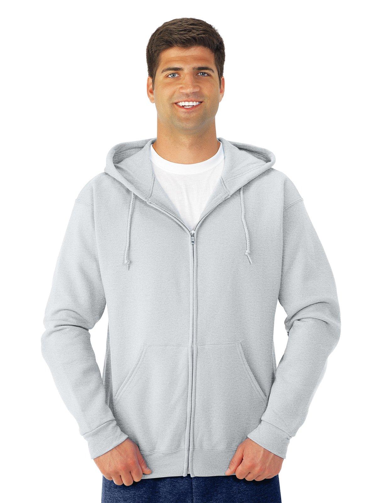 Jerzees 8 oz., 50/50 NuBlend Fleece Full-Zip Hood XL ASH