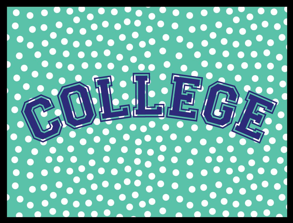 College Dorm Room Welcome Mat - College - 24 x 18 Inch