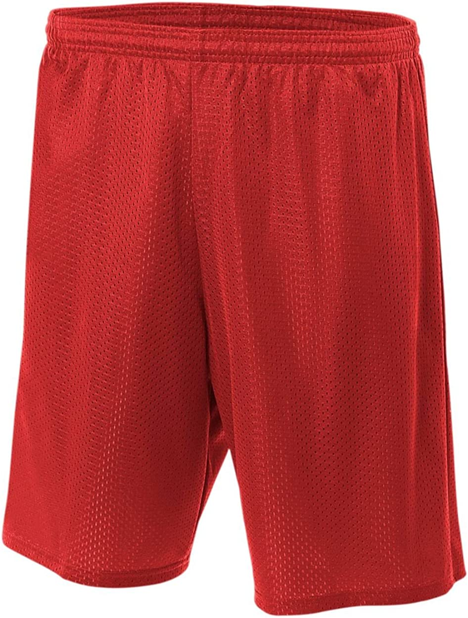 """*A4 Men/'s Lined Tricot Mesh Short 7/"""" Inseam Athletic Gym Shorts N5293-7 COLORS!"""