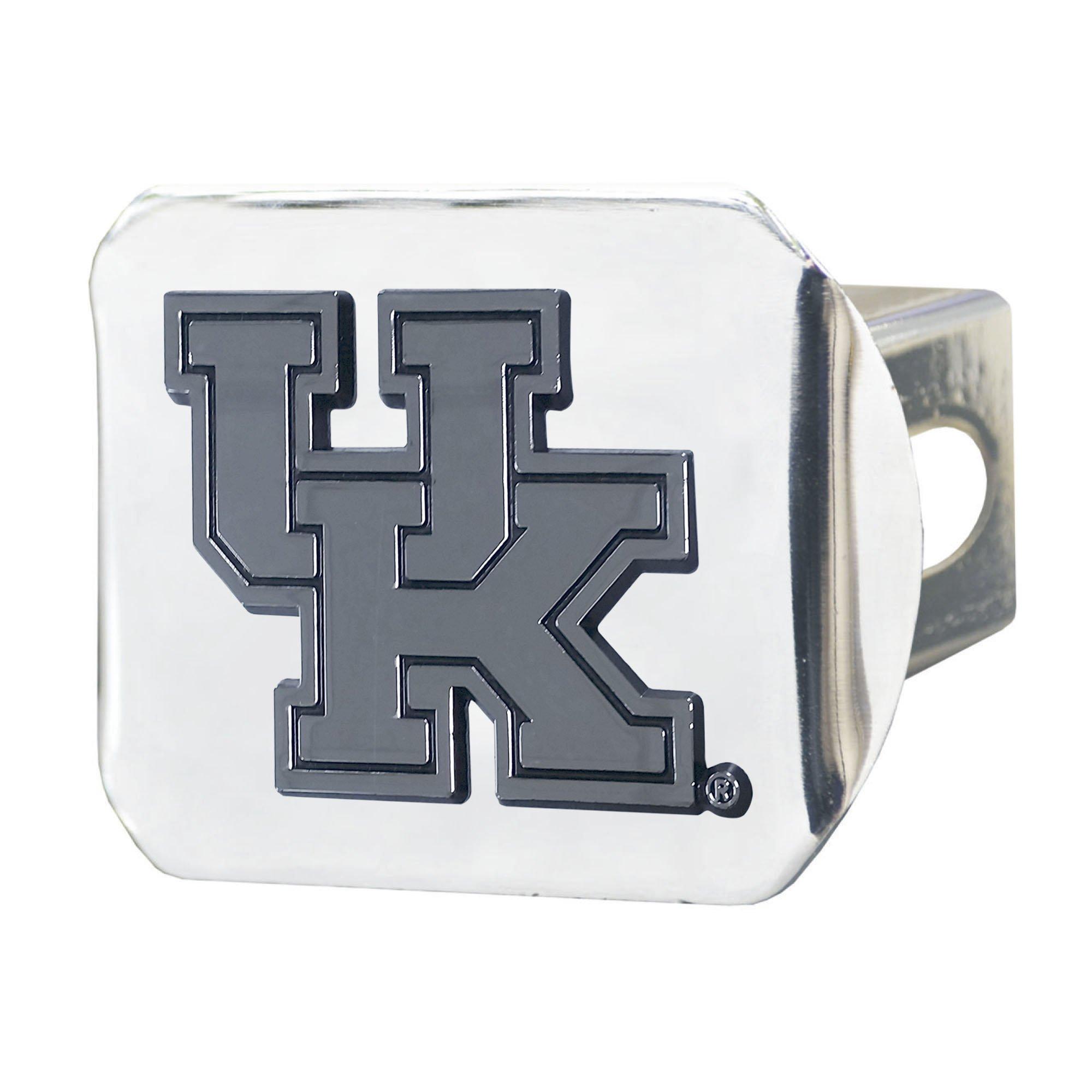 Fanmats  14990 NCAA University of Kentucky Wildcats Chrome Hitch Cover