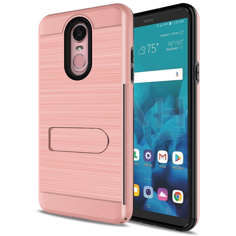 LG Stylo 4 Case, LG Stylo 4 Plus Case, LG Stylus 4 Case With HD Screen  Protector,AnoKe[Card Slots Wallet Holder] Kickstand Plastic TPU Hybrid
