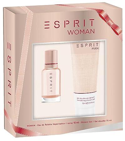 1088485162f7 Amazon.com: Esprit Esprit Woman Gift Set 0.5oz (15ml) EDT + 2.5oz (75ml)  Shower Gel: Beauty