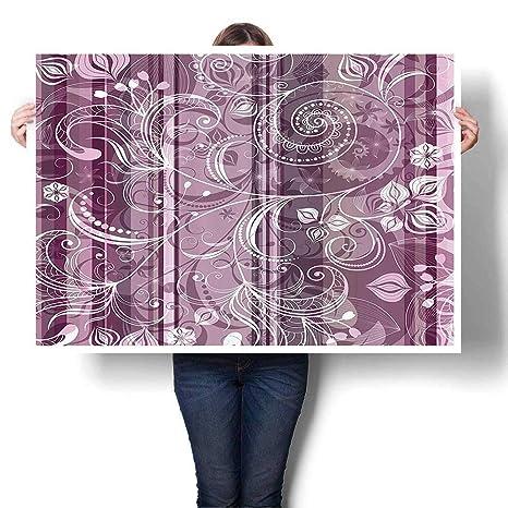 Cuadro artístico moderno colorido impreso en lienzo rosa ...