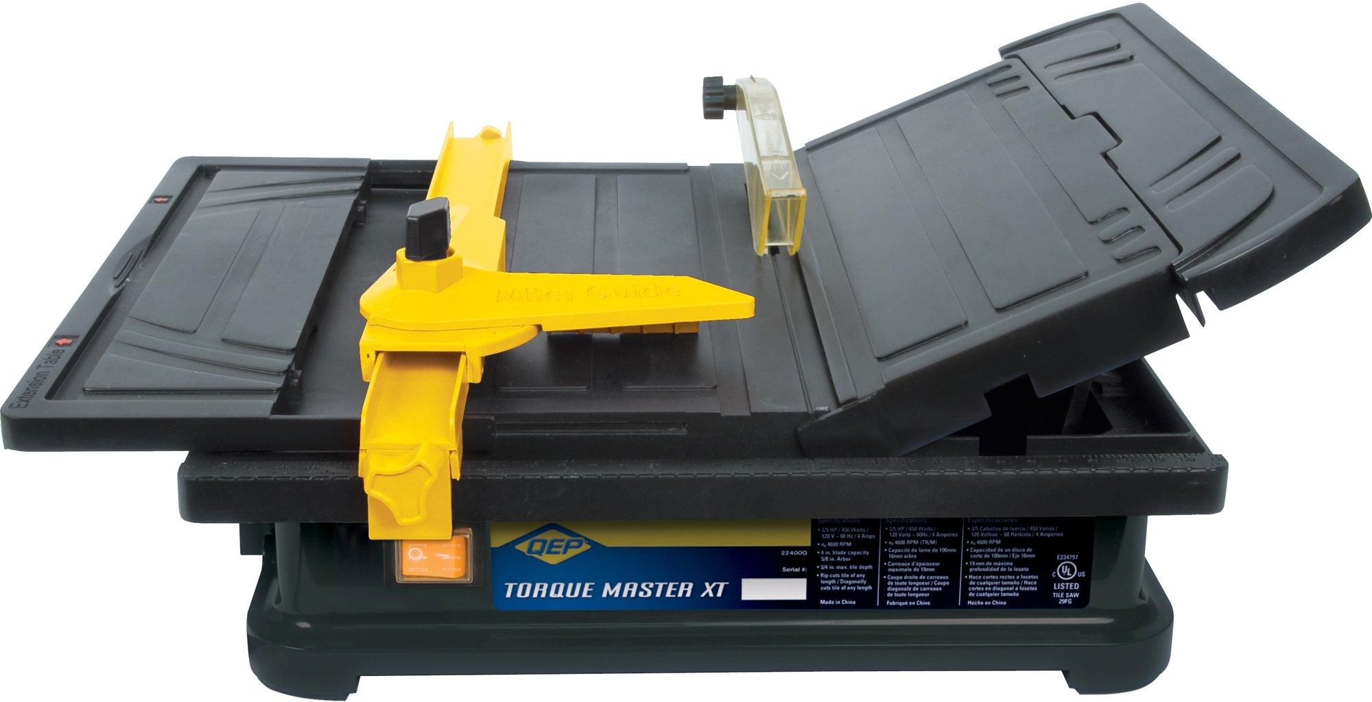 QEP 22400Q 3/5 HP Torque Master Tile Saw, 4-Inch by QEP