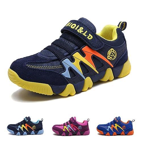 Zapatillas Deportivas para Niños Niña Antideslizante Calzado de Running Correr para Exterior Interior Velcro Ligero Transpirables Trainers: Amazon.es: ...
