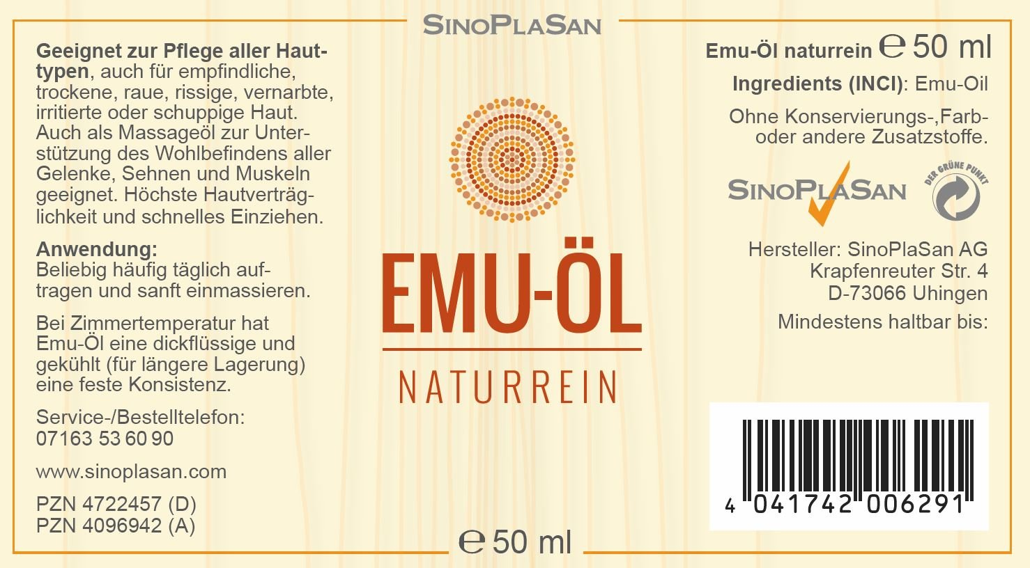 Emu aceite Natural. En Dispensador 50 ml Aceite: Amazon.es: Salud y cuidado personal