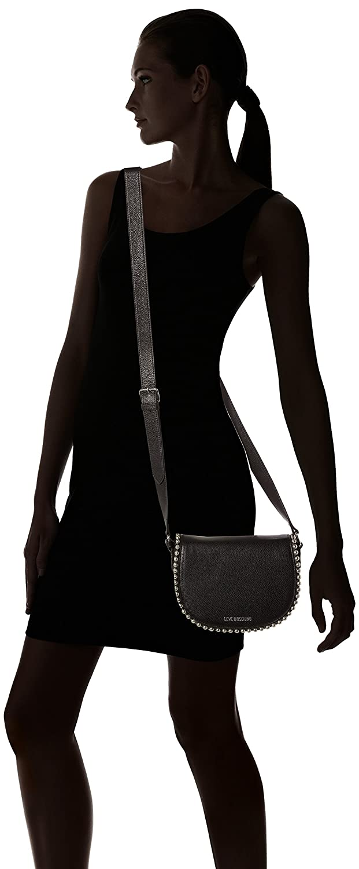 Love Moschino Borsa Vitello Pebble Nero Borse Baguette Donna, (Black), 6x16x22 cm (B x HT)
