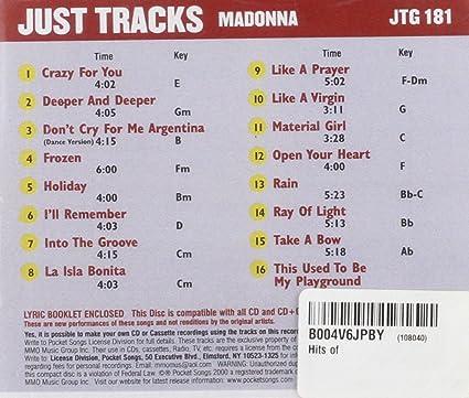 Madonna - Karaoke: Hits of Madonna - Amazon.com Music