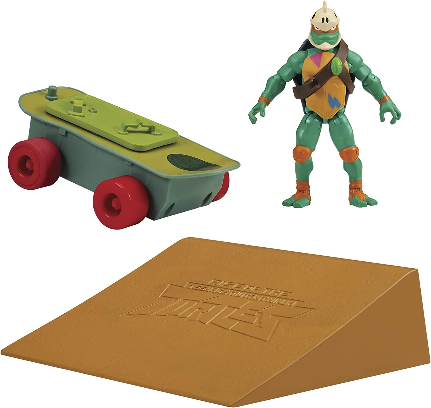 Rise of the Teenage Mutant Ninja Turtle Skateboard Vehicle with Michelangelo Figure