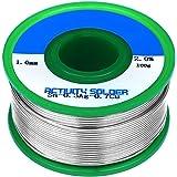 TiGree 1.0mm 100g Lead Free Solder Wire Rosin Core Tin Reel, Sn 99% Ag 0.3% Cu 0.7%