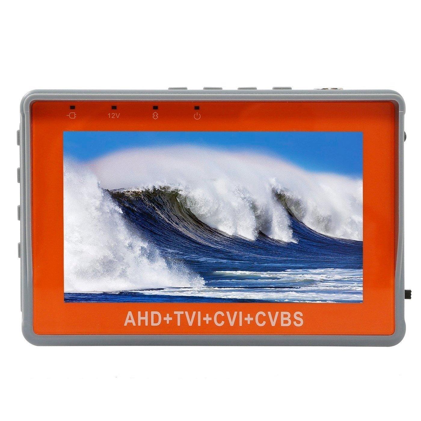 Eoncore Portable Wrist 4.3'' 720P 1080P TVI CCTV Camera Cam Video Test Monitor Tester 12V-Out (AHD+TVI+CVBS+CVI)