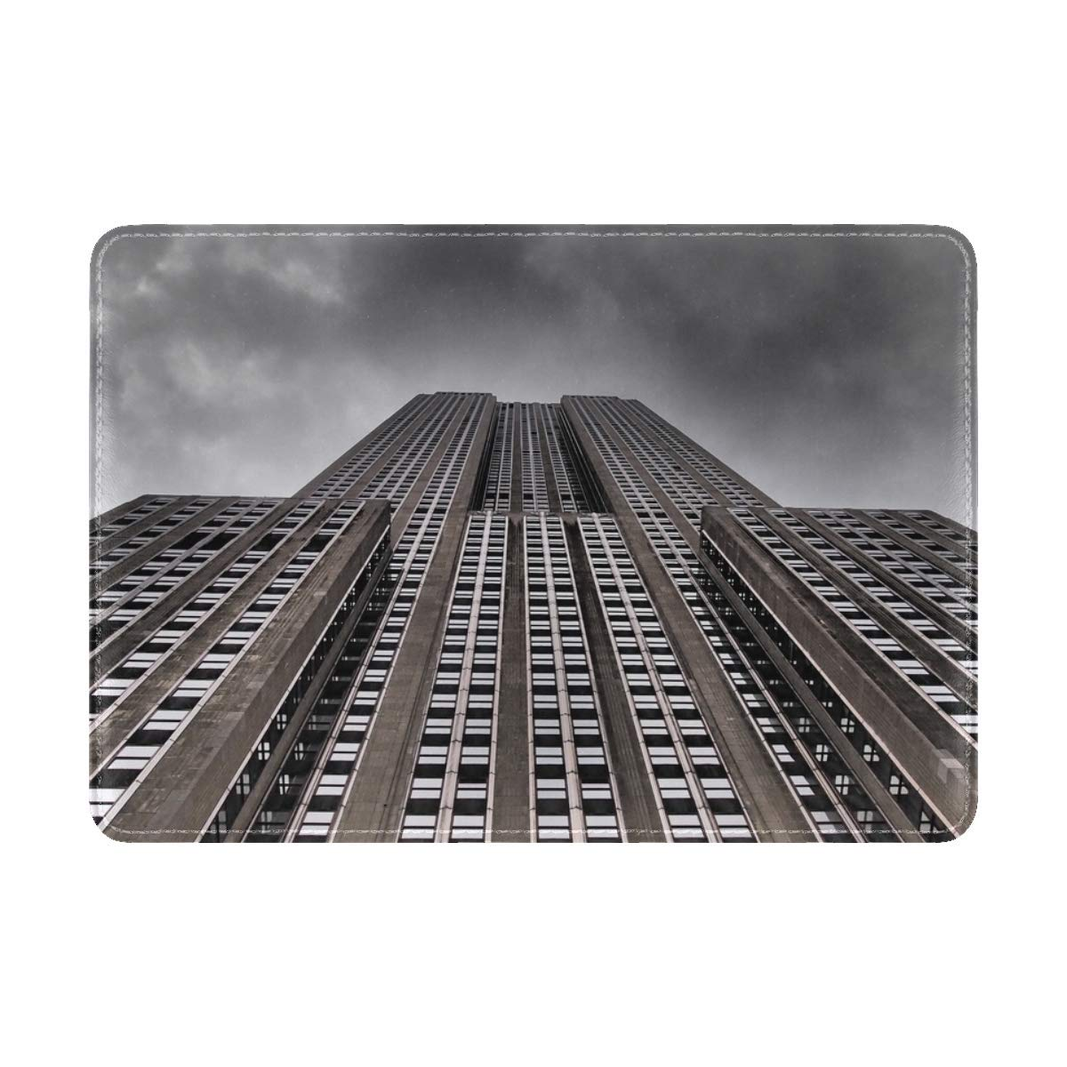 Skyscraper New York City Empire State Building Leather Passport Holder Cover Case Travel One Pocket