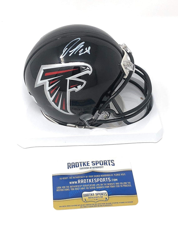 Devonta Freeman Atlanta Falcons Signed Autograph Mini Helmet Radtke Sports Certified