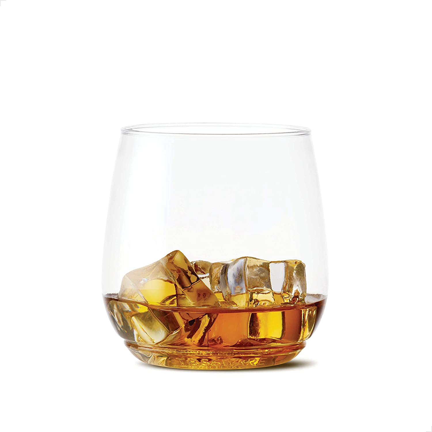 TOSSWARE 12oz Tumbler Jr SET OF 12, Recyclable, Unbreakable & Crystal Clear Plastic Whiskey Glasses