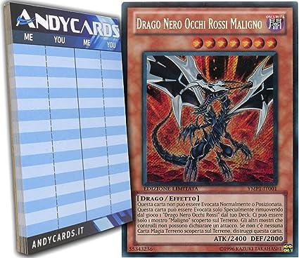 Dragon YMP1-IT001 Drago Nero Occhi Rossi Maligno Malefic Red-Eyes B Yu-Gi-Oh