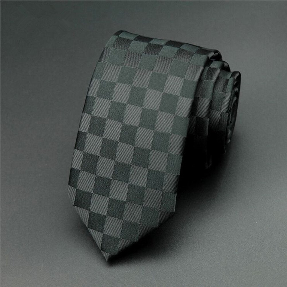 Mens Classic Plaid Necktie with Tie Clip by ZVIN (Image #2)