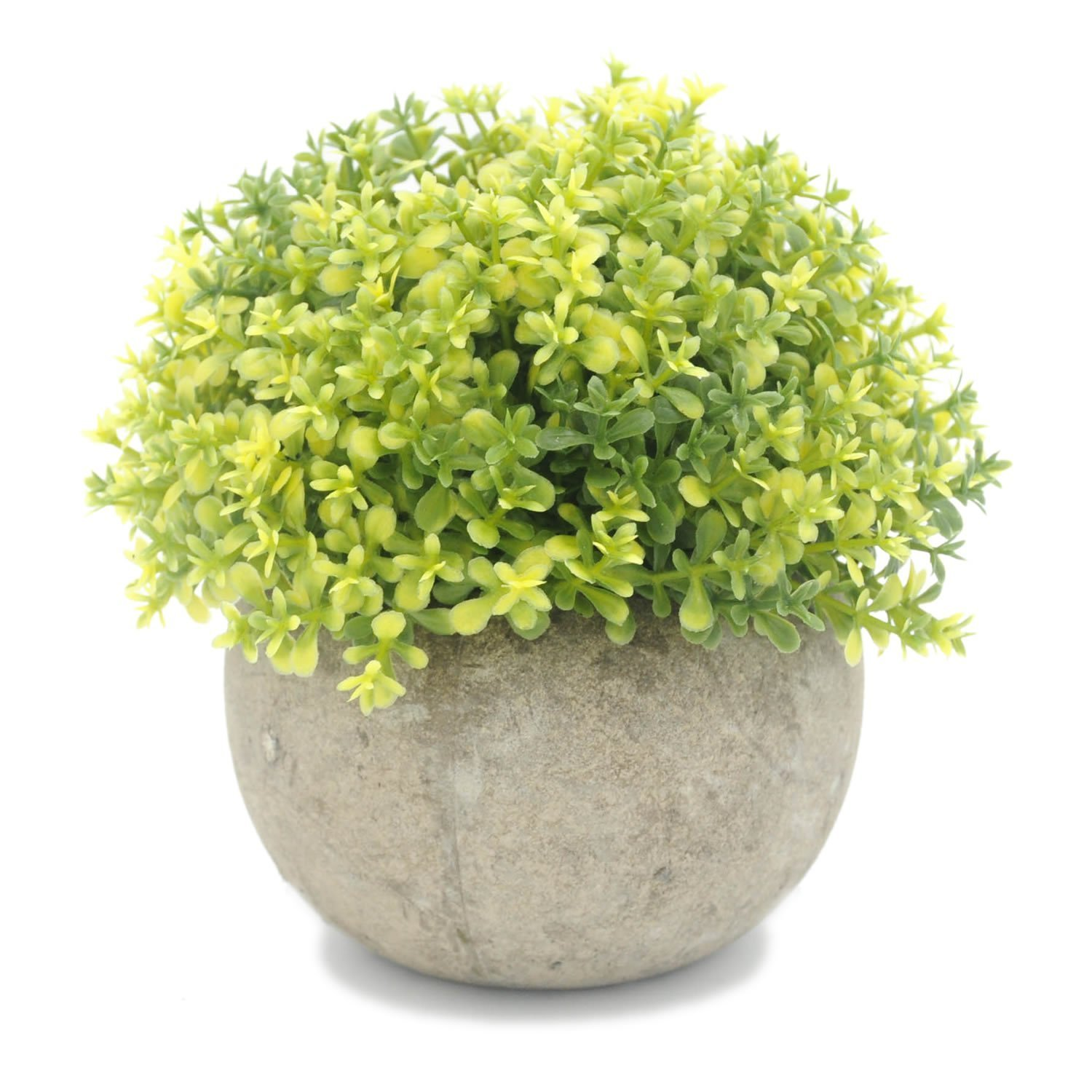 OKFCUS Artificial Ball Topiary Plants Grass Fake Floral Plastic Flowers with Pots For Office Hotel Wedding Table Decor