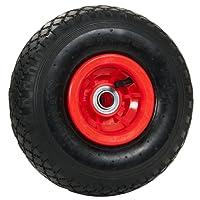 pro-bau-tec 2 Stück Sackkarrenrad mit Kugellager und Monatgematerial, rot, 10113