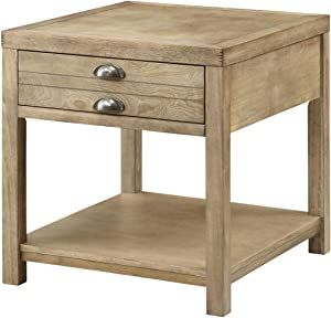 Coaster Home Furnishings End Table with Storage Drawer, Light Oak