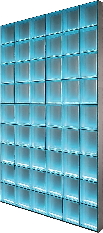 LMW Light My Wall pinzette pared de ladrillo de vidrio de ladrillos de vidrio en el formato 24 x 8 cm tamaño total: b 147,0 x B 220,5 cm: Amazon.es: Bricolaje y herramientas