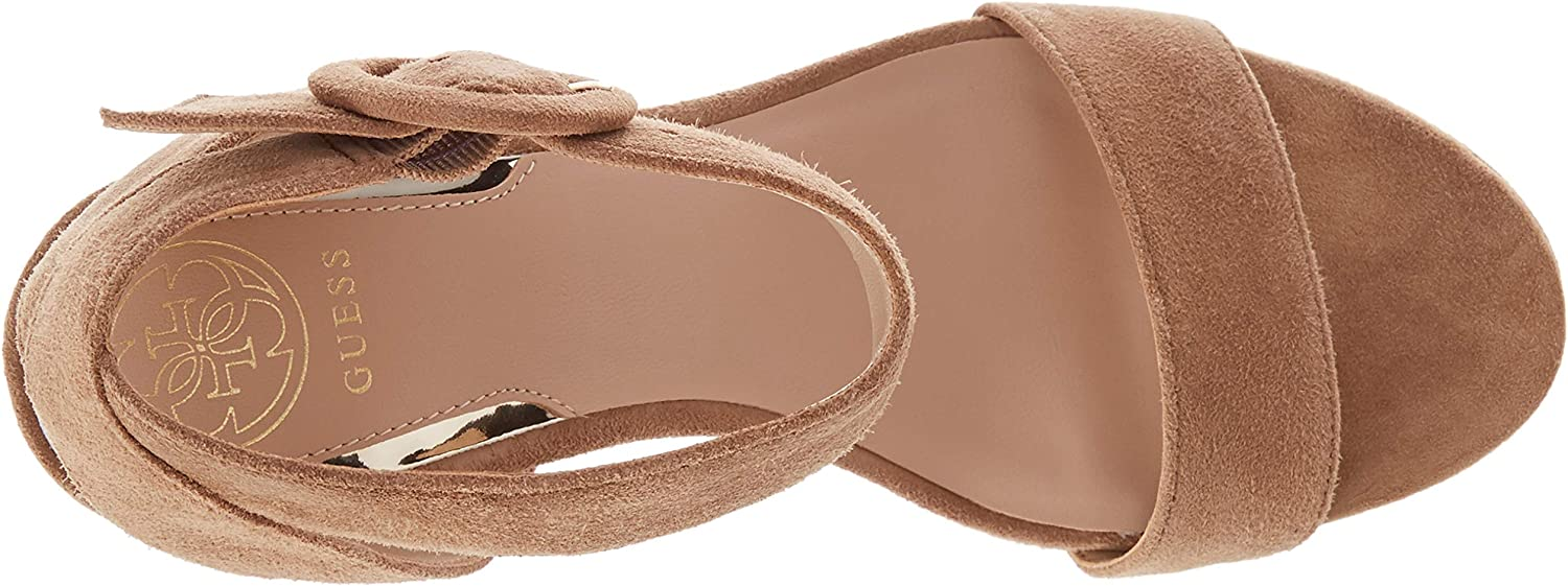Guess Brendy (Sandal)/Suede, Zeppa Donna Light Natural WcxD3K