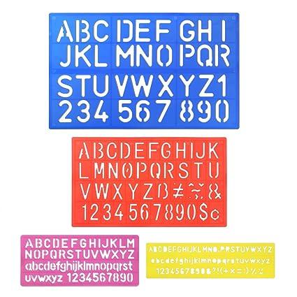 Pllieay 4 Normografi Con Lettere Dellalfabeto E Numeri Per
