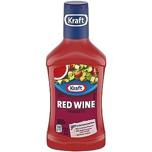 Kraft Red Wine Vinaigrette Dressing (16 fl oz Bottles, Pack of 6)