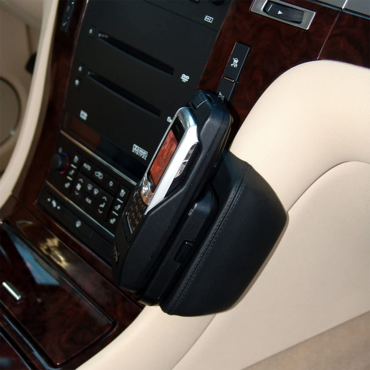 B001T21I8G KUDA 055105 Leather Mount Black Compatible with Cadillac Escalade ESV/EXT (2007-2014) 710y6Eq4O2L.SL1200_