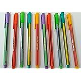 Nataraj Active Gel Pen - Pack of 5, Blue