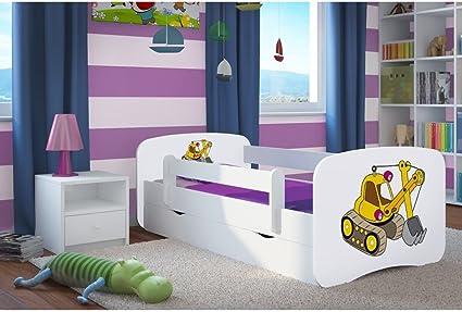 Cama infantil de 80 cm x 160 cm, con barrera de seguridad ...